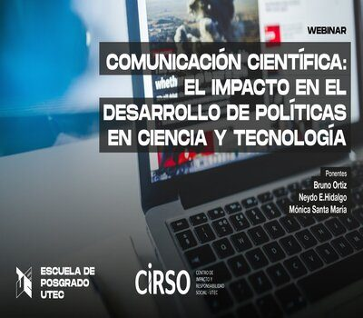 """Webinar """"Scientific communication: the impact on the development of policies in science and technology"""""""