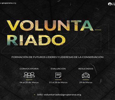 Call for Volunteering Rana 2021