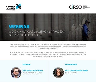Webinar: Science, multiculturalism and the tragedy of Covid-19 in Peru