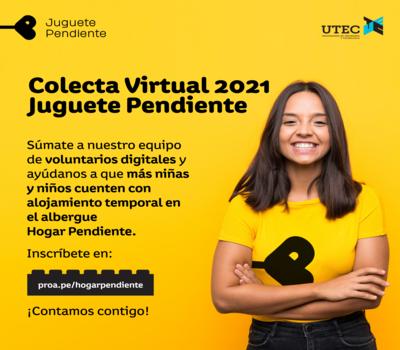 "Call for digital volunteering ""Colecta juguete pendiente"""