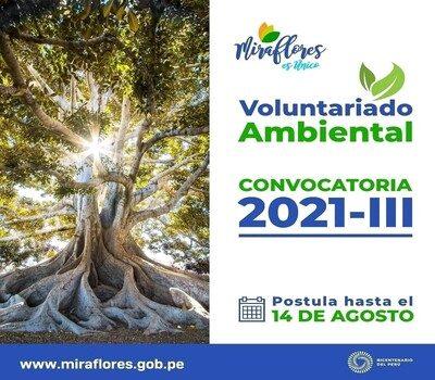 """Call for Environmental Volunteering of the Municipalidad de Miraflores"""